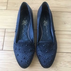 Rock and Republic Keeley Black Studded Loafers